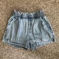 American Eagle Outfitters Shorts | American Eagle Elastic Waist Chambray Shorts Xs | Color: Blue | Size: Xs