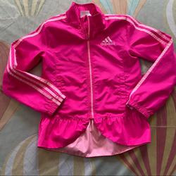 Adidas Jackets & Coats   Adidas Girls Two Tone Pink Windbreaker 6 Years   Color: Pink   Size: 6g