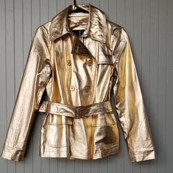 Ralph Lauren Jackets & Coats | Gold Metallic Ralph Lauren Jeans Co. Jacket | Color: Gold | Size: M