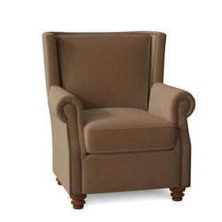 Omnia Leather Dixon Club Chair Leather/Genuine Leather in Brown, Size 43.0 H x 37.0 W x 41.0 D in   Wayfair Dixon Chair-11005-Dnvr Fawn-Cherry