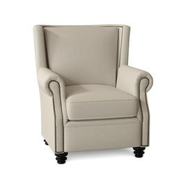 Omnia Leather Dixon Club Chair Leather/Genuine Leather in White, Size 43.0 H x 37.0 W x 41.0 D in   Wayfair Dixon Chair-11005-Softs Bianco-Espresso