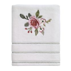 House of Hampton® Mordenhill Spring Garden 100% Cotton Hand Towel Terry Cloth/100% Cotton in Green/Pink, Size 1.0 H in | Wayfair