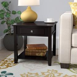 Red Barrel Studio® Sophocles End Table Wood in Black/Brown, Size 22.0 H x 22.0 W x 22.0 D in   Wayfair RBRS2829 39484348