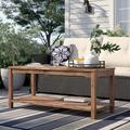 Winston Porter Artidiello Wooden Coffee Table Wood in Brown, Size 20.5 H x 47.0 W x 19.5 D in | Wayfair 8766CBD2ABDC46A2BC9181EE77B7C487