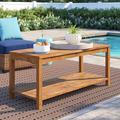 Winston Porter Artidiello Wooden Coffee Table Wood in Brown, Size 20.5 H x 47.0 W x 19.5 D in | Wayfair 3203C22867524F9597C87E9D27F27E3A