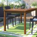 Winston Porter Artidiello Wooden Dining Table Wood in Brown, Size 30.0 H x 60.0 W x 31.875 D in | Wayfair 1CD80FF3C0984575A8F0E63CEEB9F052