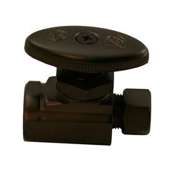 """JonesStephens Oil Rubbed Bronze Multi-Turn Compression Straight Stop 1/2"""" Fip X 3/8"""" Comp. in Brown, Size 2.95 H x 2.17 W x 1.02 D in 