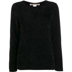 Glitter Round Neck Jumper - Black - Comme des Garçons Knitwear