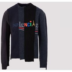 Crewneck Sweater S - Blue - Balenciaga Knitwear