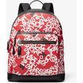 Hudson Scattered Logo Backpack - Red - Michael Kors Backpacks