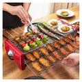 CHIFAN Outdoor Electric Barbecue Grill, Household Mini Barbecue Grill, Portable Barbecue Tray Barbecue Tool Camping Garden, Removable Spice Rack, Barbecue Set That Can Accommodate 4-8 People
