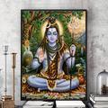Modsjj DIY 5D Diamond Painting-Hindu god Shiva-Diamond Painting Full Diamond Cross Stitch Kit Adult Diamond Painting Kit Rhinestone Embroidery Diamond Art Round Diamond 40x50cm