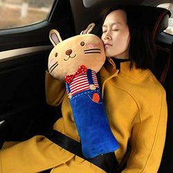 helegeSONG Car Seat Strap Covers for Kids, Seat Pets Stuffed Animal Seat Belt Car Seat Strap Belt Cushion Cover for Kids, Adjustable Pillow Car Protect Kids Shoulder Chest Rabbit#