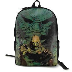 Casual Classic Backpack Creature from The Black Lagoon Shoulder Backpacks Packable Bags Business Backpack Travel Hiking Camping Daypack Backpack for Men/Women