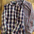 J. Crew Shirts | Mens Lot Of 2 J Crew Medium Flannel Button Downs | Color: Gray/Red | Size: M