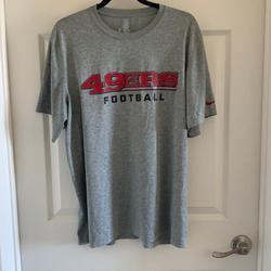 Nike Shirts | Nike San Francisco 49ers T-Shirt Sz M | Color: Gray/Red | Size: M