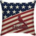 """""""St. Louis Cardinals 18'' x Team Americana Decorative Throw Pillow"""""""