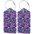 Love Eggplant Luggage Tags, Business Card Holder, Suitcase Labels, Travel Accessories