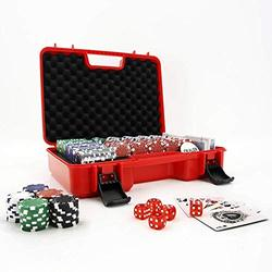 NOTHER Poker Sets with case 300 Chips Poker Dice Dealer Casino Chips Suitable for Texas Hold'em Blackjack Casino Chips Texas Hold'em Poker Sets Poker Chip