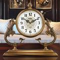 ZCME-power Mantel Clock, Silent Retro Mantel Clock, Grandfather Clocks Glass Tabletop Clock Ornaments, Mantle Desk Clock for Living Room Office Desk Decoration Quartz Table Clock