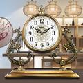 ZCME-power Grandfather Clocks Glass Tabletop Clock Ornaments, Desk Clock Modern Simplicity Mantel Clock,Table Clock, Mantel Clock, for Living Room,Office,Battery Operated