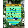 """Customized Garden Flag,12.5"""" x 18"""" Twin Printed,Waterproof Polyester,Without Flagpole,Peace Love Joy, Personalized Yard Sign Flag for Garden Decor."""