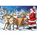 DIY 5D Diamond Painting by Number Kit Full Drill Crystal Rhinestone Large Size Christmas Santa Claus Cross Stitch Embroidery Dotz Diamond Art Craft for Home Wall Decor Gift (100x140cm/36x47inch)