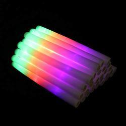 Beaupretty 30pcs Light up Foam Sticks LED Foam Glow Sticks Flashing Glow in The Dark Party Supplies for Kids Birthday Wedding Halloween Concert Party Favor