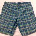 Nike Shorts | Nike Golf Shorts Green Blue Striped Size Medium | Color: Blue/Green | Size: M