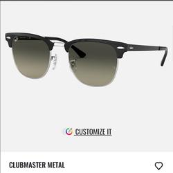 Ray-Ban Accessories | Clubmaster Ray-Ban Sunglasses For Women | Color: Black/Silver | Size: Os