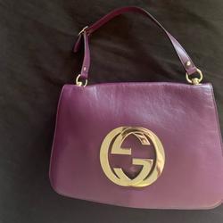 Gucci Bags | Auth Gucci Purple Leather Flap Over Shoulder Bag | Color: Purple/Silver | Size: Os