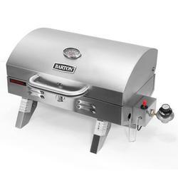 "Barton Barton Tabletop 1-Burner Propane Gas Grill, Stainless Steel, Size 12""H X 22""W X 20""D | Wayfair 95540"