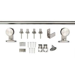 """Sure-Loc Hardware Stainless Steel Barn Door Rail System, 72"""" in Gray, Size 1.0 H x 72.0 W x 2.19 D in 