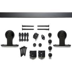 Sure-Loc Hardware Barn Single Door Hardware Kit in Black, Size 1.56 H x 72.0 W x 2.63 D in | Wayfair BARN-2KIT72 FBL