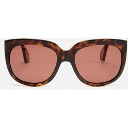 Square Sunglasses With Lateral Protections In Brown Acetate With Brown Lenses - Brown - Gucci Sunglasses