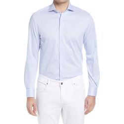 Linen & Cotton Dress Shirt - Blue - Corneliani Shirts