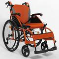 N/Z Daily Equipment Wheelchair Self Propelled Foldable with Dual Brakes Adjustable Foot Pedal Anti Overturning Setting Disabled/Elderly Manual Orange