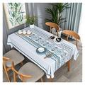Tablecloth Table Cloth, and Oil-Proof PVC Tea Table Cloth Table Mat Table Cloth Table Cloth Household Easy to Clean Table Cloth (Color : 1#, Size : 135200cm)