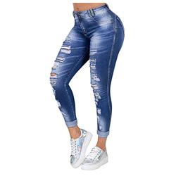 Womens jeans high waisted,Women Fashion Jeans Casual Jeans Slim Fit Female Ripped Fringe Jeans,Ladies Pants Stretch Denim Mid Rise Womens Pockets Ankle Skinny Jeans