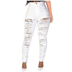 Mom jeans plus size,Womens Hole Button Zipper Pocket Jeans Casual Denim Flares Wide Leg Slim Pants,Ladies Denim Jeans Jeggings Sculpt Pull On Skinny Fit Casual Trousers Pants