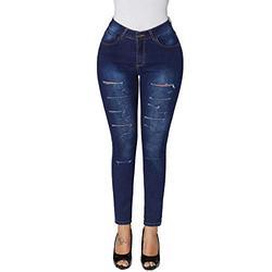 Womens jeans,Womens Hole Button Zipper Pocket Jeans Casual Denim Flares Wide Leg Slim Pants,Jeans for Women Elastic Waist Jeans Straight Leg Denim Plus Size Jeans