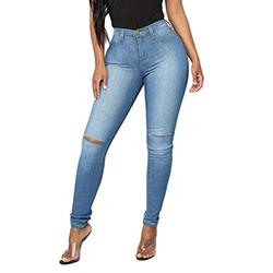 Mom jeans ripped,Womens Hole Button Zipper Pocket Jeans Casual Denim Flares Wide Leg Slim Pants,Jeans Bootcut Ladies Boot-Cut Denim Pants High Waisted Flared Jean