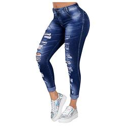 Jeans for women stretch skinny,Women Fashion Jeans Casual Jeans Slim Fit Female Ripped Fringe Jeans,Petite High Rise Mom Rolled Up High Waist Denim Jeans