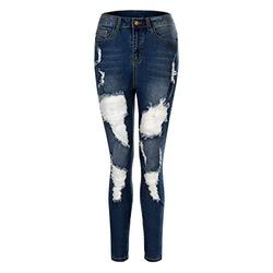 Skinny jeans for women stretchy,Fashion Womens Pocket Sexy High Waist Jeans Denim Pants Casual Hole Beach Bottom,Women Ladies High Waisted Skinny Jeggings Stretch Jeans Denim Pant
