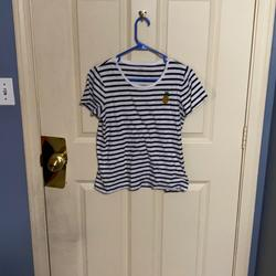 J. Crew Tops | J. Crew Pineapple Shirt By J Crew | Color: Blue/Yellow | Size: M
