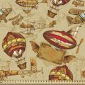 East Urban Home fab_55896_Ambesonne Vintage Airplane Fabric By The Yard, Hand Drawn Aviation Themed Abstract Crafts Balloon & Planes in White