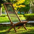 Corrigan Studio® Lounge Chair Folding Roping Wood Chair Outdoor Garden Summer Beach Fabric in Brown, Size 19.2 H x 19.6 W x 37.4 D in   Wayfair