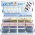 Connecteurs de fil de soudure thermorétractables, Kit de connecteurs de terminaux de soudure à bout