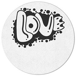 DaringOne Love You Area Rugs, Round Diameter 4ft Absorbent Room Rug, Washable Premium Floor Carpets for Children to Play, Living Room Decor, Artistic Words