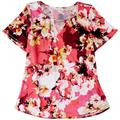 Notations Womens Floral Chain Neck Detail Sleeveless Top